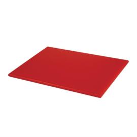 Hygiplas HDPE snijplank rood klein - 12(h) x 300(b) x 225(d)mm