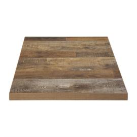 Bolero voorgeboorde vierkante tafelbladen Urban Dark 60cm