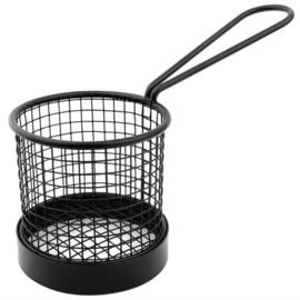 Olympia zwart fritesmandje met handvat