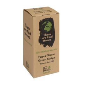 Fiesta Green composteerbare papieren rietjes groen-wit gestreept