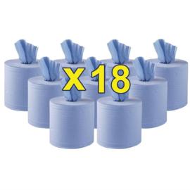 Jantex centrefeed handdoekrollen blauw 18 rollen