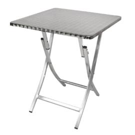 Bolero aluminium opklapbare bistrotafel vierkant 60cm