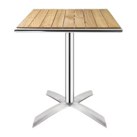 Bolero essenhouten opklapbare bistrotafel vierkant 60cm