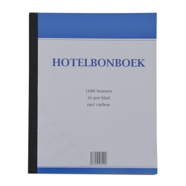 Hotelbonboek, 1000 nrs. per 5 stuks
