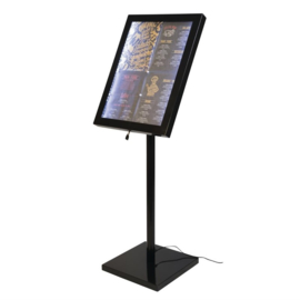 Securit LED info display zwart