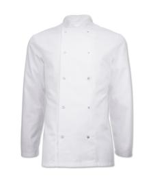 Essential koksbuis met lange mouwen wit