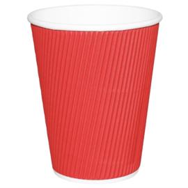 Fiesta Hot Cups met gerimpelde wand rood 23cl x25