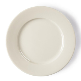 Olympia Ivory borden met brede rand 15cm