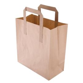 Bruine papieren tassen recyclebaar klein