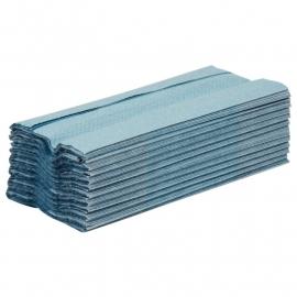 Jantex C-gevouwen handdoeken 1-laags blauw