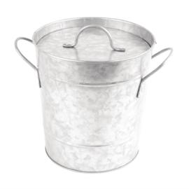 Olympia gegalvaniseerde ijsemmer met deksel 3,4ltr