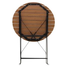 Bolero imitatiehouten bistrotafel 60cm rond