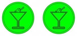 Consumptiemunt martini groen
