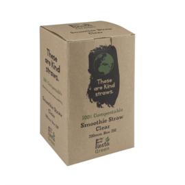 Fiesta Green composteerbare CPLA smoothierietjes transparant
