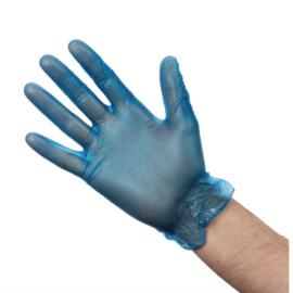 Vogue vinyl handschoenen blauw gepoederd
