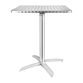 Bolero vierkante bistrotafel met kantelbaar RVS blad 60cm