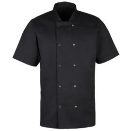 Essential koksbuis met korte mouwen zwart