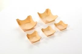 Bakje hout vierkant FSC