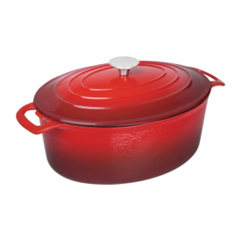 Vogue ovale braadpan 6ltr rood