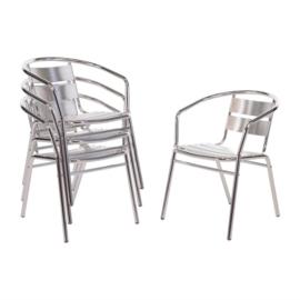 Bolero stapelbare aluminium stoel