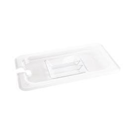 Vogue polycarbonaat deksel met lepeluitsparing GN 1/4