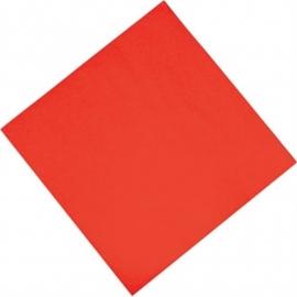 Professionele tissueservetten rood 33x33cm