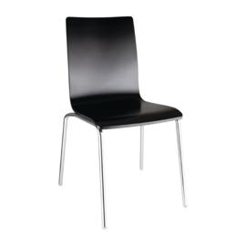 Bolero stoel met vierkante rug zwart