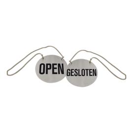 Infobord Open Gesloten RVS