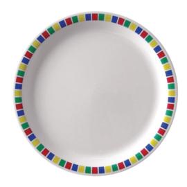 Kristallon Fairground melamine borden 16(Ø)cm