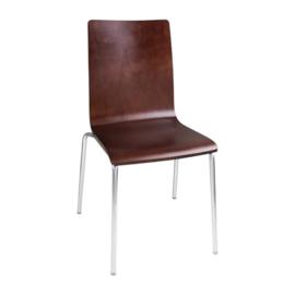 Bolero stoel met vierkante rug noten