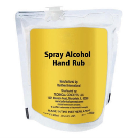 Rubbermaid Manual ongeparfumeerde handreiniger spray 60% alcohol - 400ml (12 stuks)