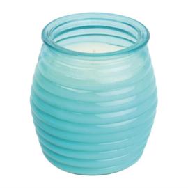 Olympia kaarsen in bijenkorfglas blauw