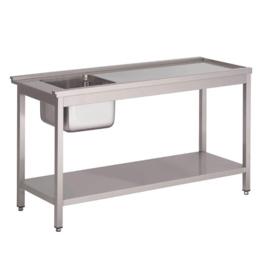 voorspoeltafel voor doorschuifvaatwasmachine HT50
