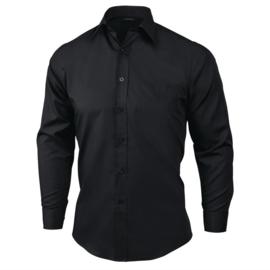 Uniform Works unisex overhemd lange mouw zwart