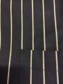 Sloof zwart met creme streep 100x100 met loopsplit
