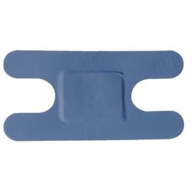 Blauwe knokkelpleisters