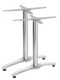 Dubbele Tafelpoot Aluminium 68 cm hoog