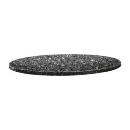 Topalit Classic Line rond tafelblad zwart graniet 60(Ø)cm