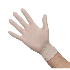 Latex handschoenen wit gepoederd