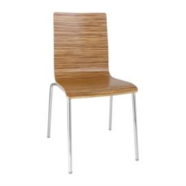 Bolero stoel met vierkante rug eiken