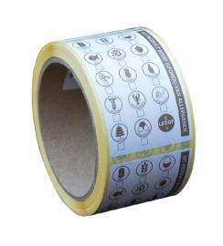 Verzamel stickers allergenen 250 st op rol