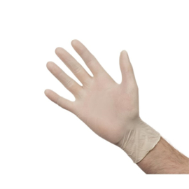 Latex handschoenen wit poedervrij