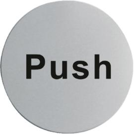 RVS deurschildje PUSH