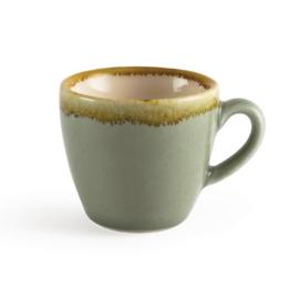 Olympia Kiln espressokopjes mosgroen 8,5cl