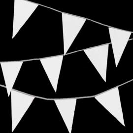 Vlaggenlijnen 10m - wit