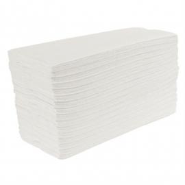 Jantex C-gevouwen handdoeken 2-laags wit