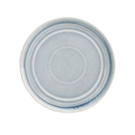 Olympia Cavolo plat rond bord ijsblauw 18cm