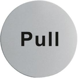 RVS deurschildje PULL