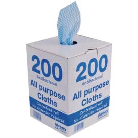 Jantex antibacteriële multifunctionele doekjes blauw