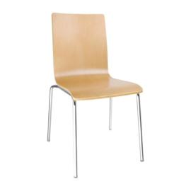 Bolero stoel met vierkante rug beuken